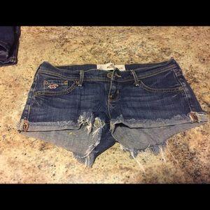 Hollister jean shorts.